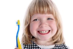 Little Girl With Toothbrush Stock Photography