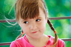 Little Girl With Two Plaits Stock Photos