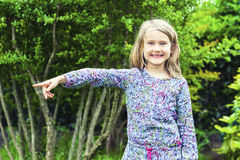Little Girl in the Woods Stock Photography