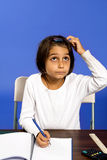 Little girl working Stock Photos
