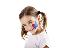 Little girl with a wound Stock Photo