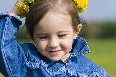 Little girl with wreath Royalty Free Stock Photography