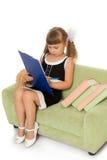 Little girl writes Royalty Free Stock Photos