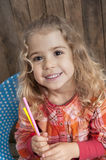 Little girl writing a letter Royalty Free Stock Photo