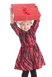 Little girl with xmas gift Stock Photo