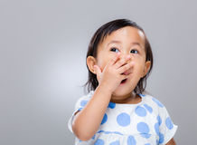 Little girl yell Stock Images