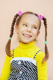 Little girl in yellow dress Royalty Free Stock Image