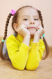 Little girl in yellow dress Royalty Free Stock Images