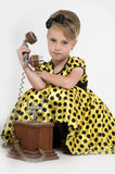 Little girl in a yellow dress Royalty Free Stock Image