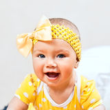 Little girl in yellow Royalty Free Stock Photo