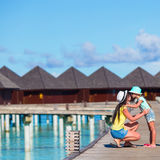 Little girl and young mother during beach vacation Royalty Free Stock Photo