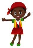 Little girl in Zimbabwe clothes. Illustration Royalty Free Stock Photo