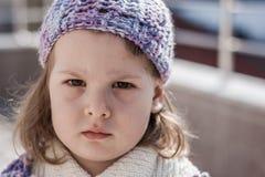 Little Girle Poses Fashion Style Stock Photos
