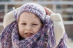 Little Girle Poses Fashion Style royalty free stock photos