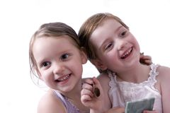 Little girls. Beautiful little girls playing and laughing Royalty Free Stock Images