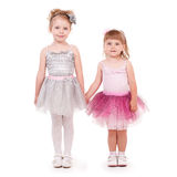 Little girls. Two little girls in fluffy tutu Stock Photos