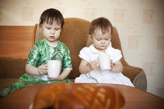 Little girls. Stock Photography