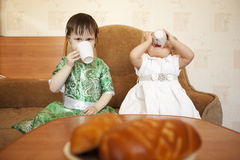 Little girls. Royalty Free Stock Photography