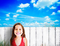 Little Girls Adorable BEautiful Cheerful Smiling Concept Stock Images