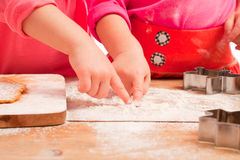 Little girls baking and having fun Royalty Free Stock Photo