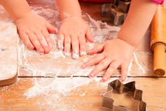 Little girls baking and having fun Stock Photo