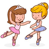 Little girls ballet dancers. Royalty Free Stock Image