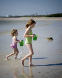 Little Girls on Beach Royalty Free Stock Image