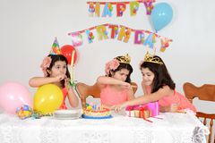 Little girls birthday party Stock Photo