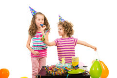 Little girls birthday party Stock Photos