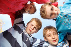 Little girls and boys group Royalty Free Stock Photo