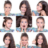 Little girls, collage Royalty Free Stock Images