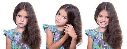 Little girls, collage Stock Image
