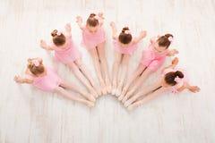 Little girls dancing ballet in studio Stock Photography