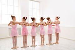 Little girls dancing ballet in studio Royalty Free Stock Photography
