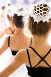 Little girls dancing ballet. In studio Royalty Free Stock Photo