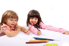 Little girls educational development Stock Photo
