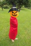 Little girls farmer play Halloween Royalty Free Stock Photo
