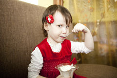 Little girls. Royalty Free Stock Images