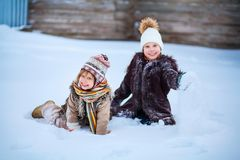 Little girls happy. Royalty Free Stock Photography