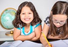 Little girls homework Stock Image