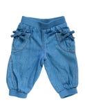 Little girls jean breeches Stock Photos