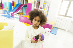 Little girls in the kindergarten Royalty Free Stock Photos