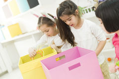Little girls in the kindergarten Royalty Free Stock Images