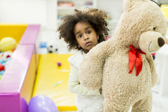 Little girls in the kindergarten Royalty Free Stock Photography