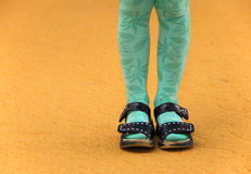 Little girls legs. And feet Royalty Free Stock Image