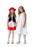 Little Girls In Masquerade Clothing Royalty Free Stock Photo