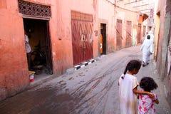 Little girls in the medina Stock Photo