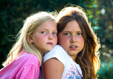 Little girls in nature Royalty Free Stock Photography