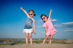 Little girls playing Royalty Free Stock Images