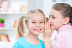 Little girls playing at home Royalty Free Stock Photography